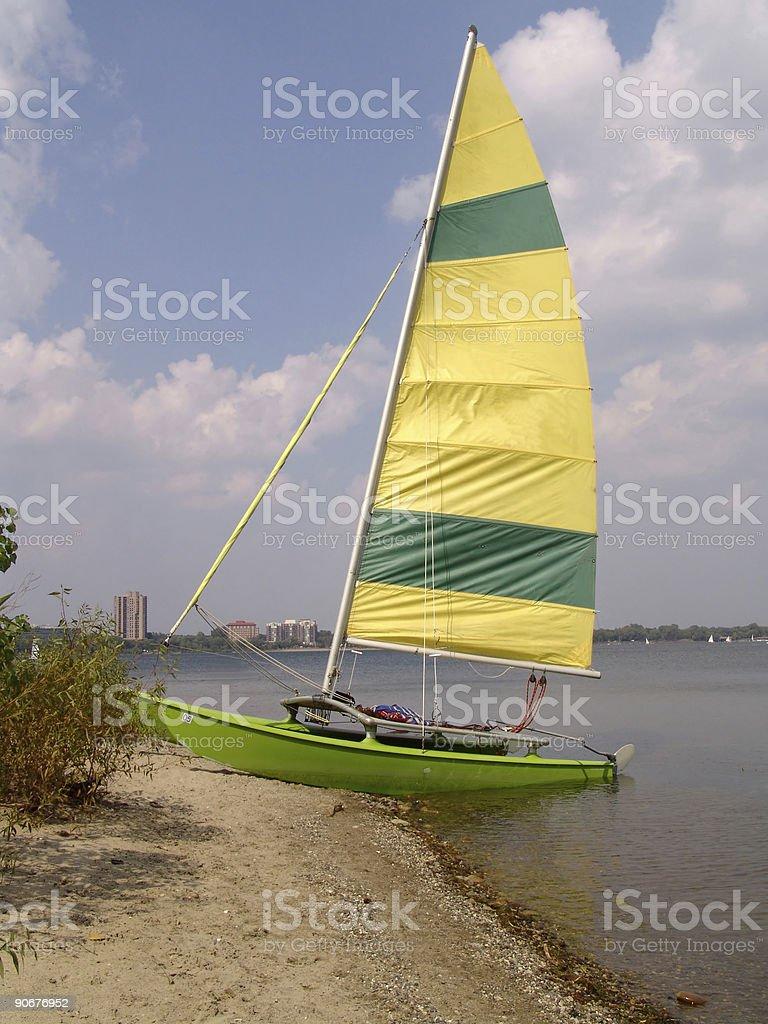 Sailing break royalty-free stock photo