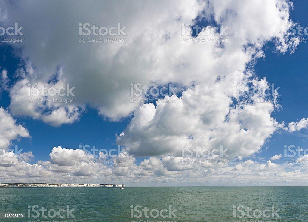 Sailing by big sky royalty-free stock photo