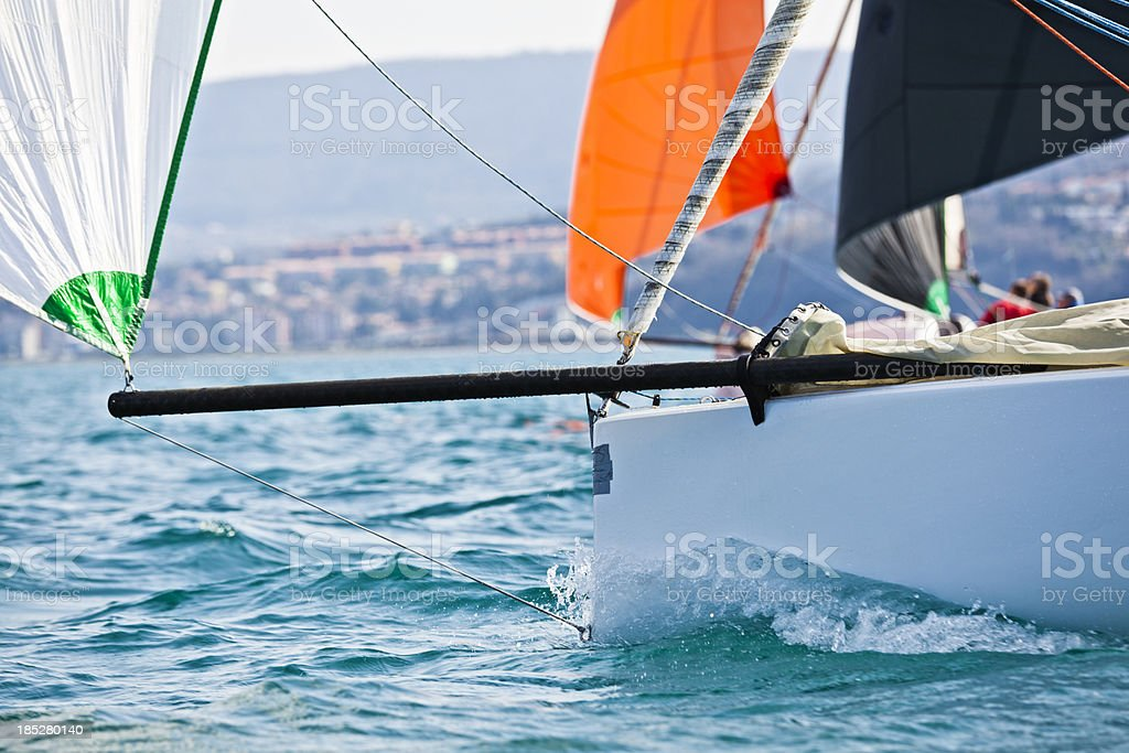 sailing competition stock photo