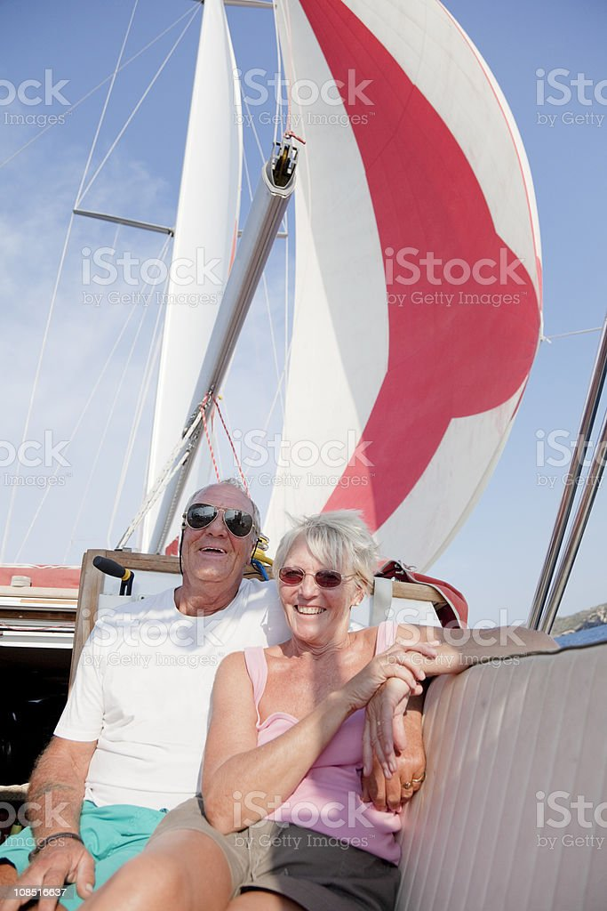 Sailing couple royalty-free stock photo