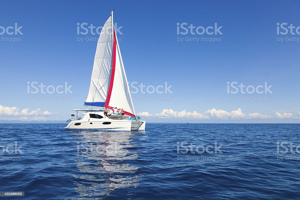 Sailing crew stock photo