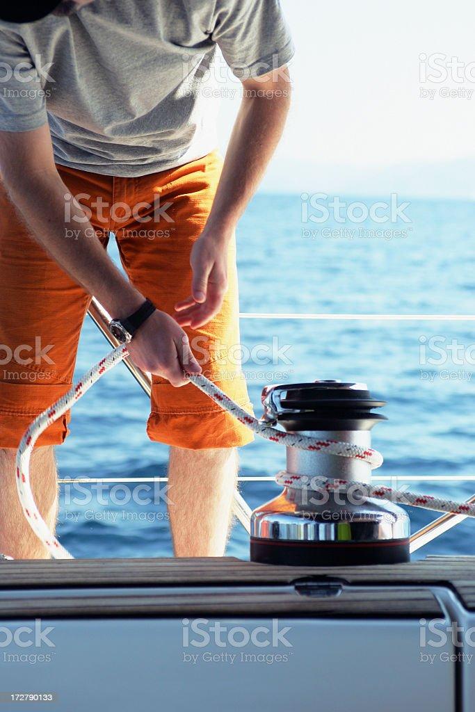 Sailing Croatia royalty-free stock photo