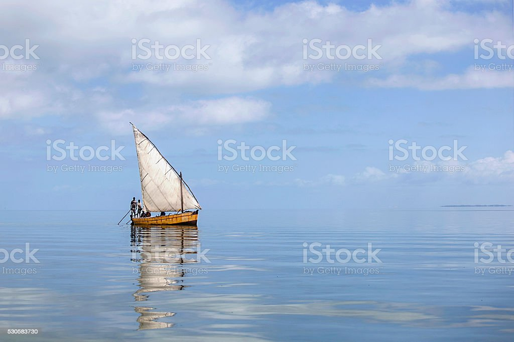 Sailing dhow in Vilankulo, Mozambique stock photo