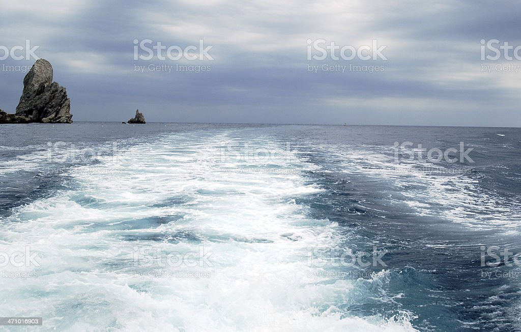 Sailing fast royalty-free stock photo
