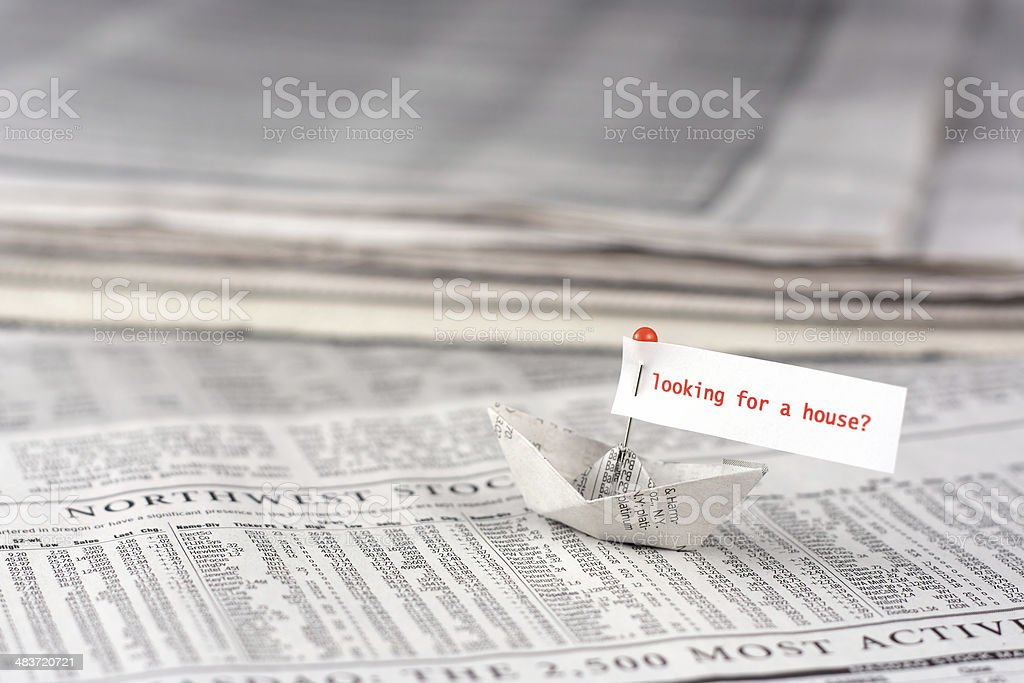 Sailing for a new house royalty-free stock photo