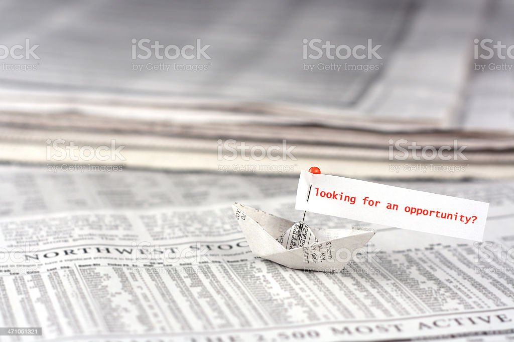 Sailing for opportunity royalty-free stock photo