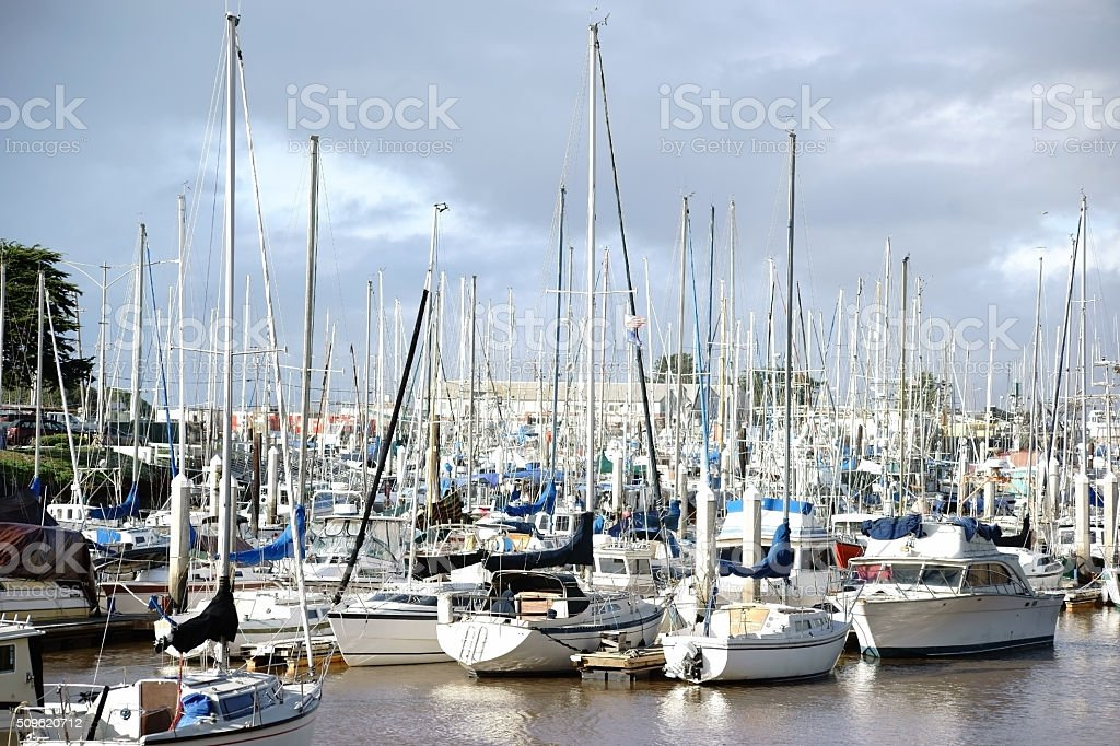 Sailing harbor stock photo
