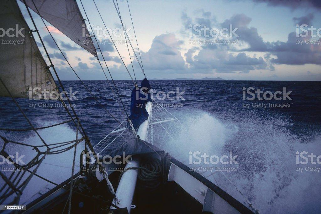 Sailing Hard stock photo