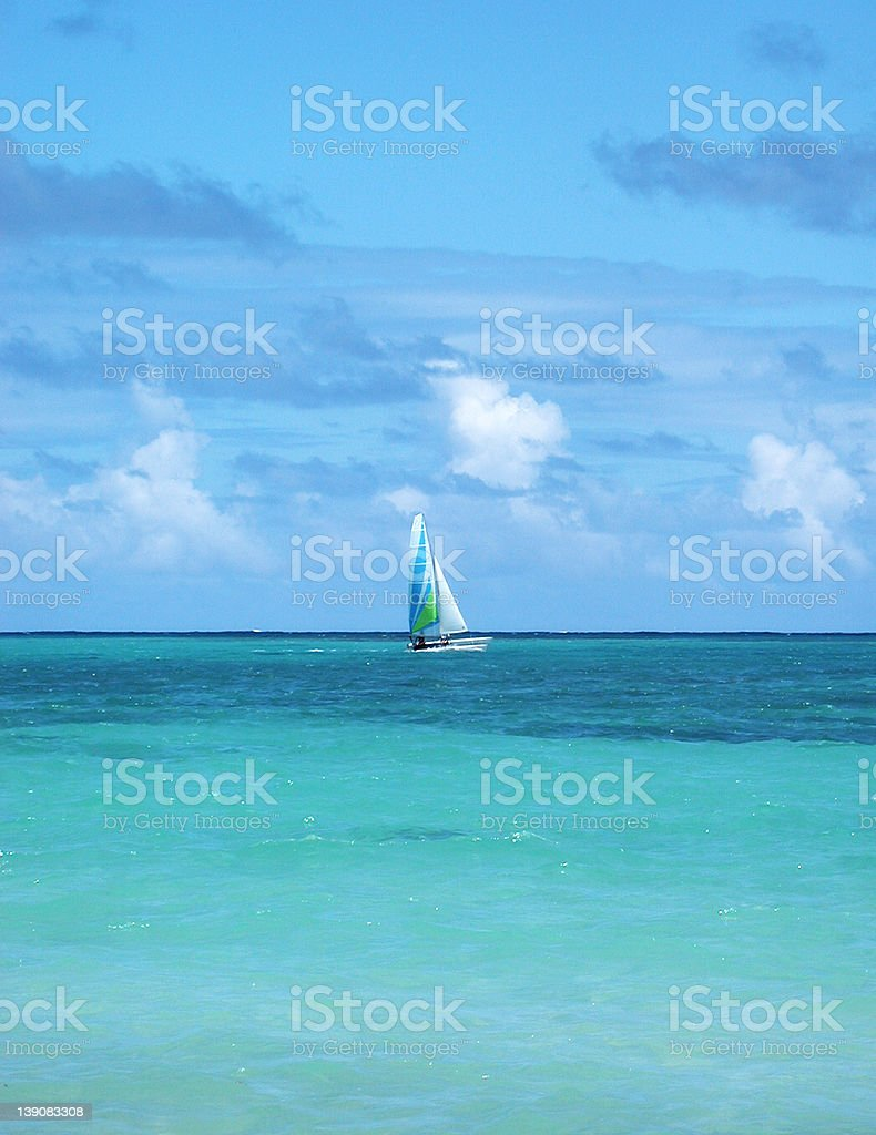 Sailing in a Tropical Breeze royalty-free stock photo