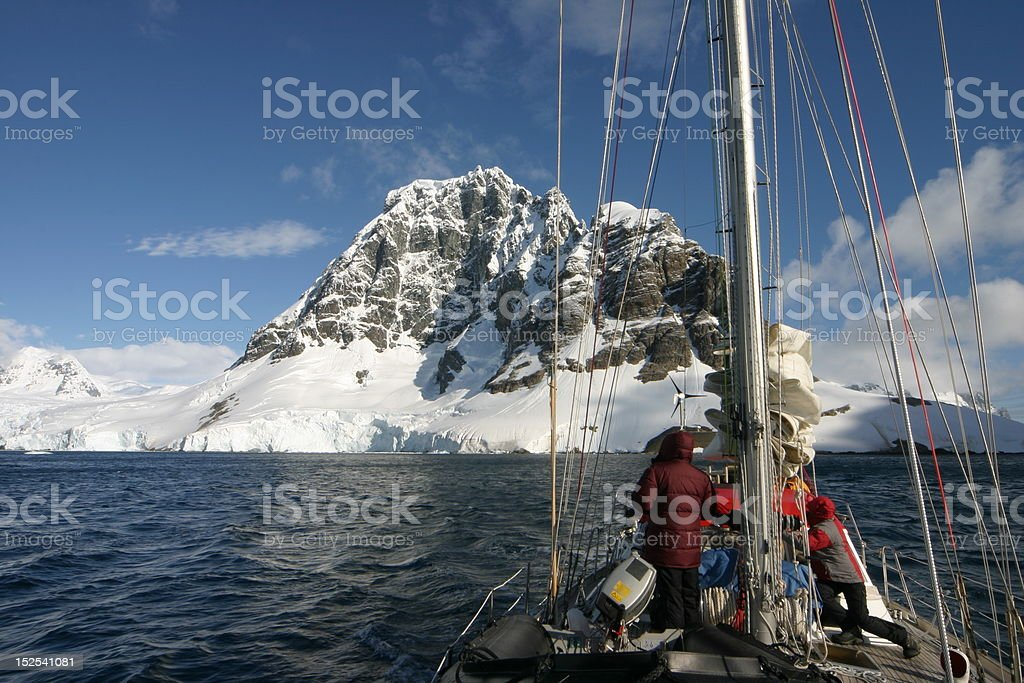 Sailing in Antartcica royalty-free stock photo