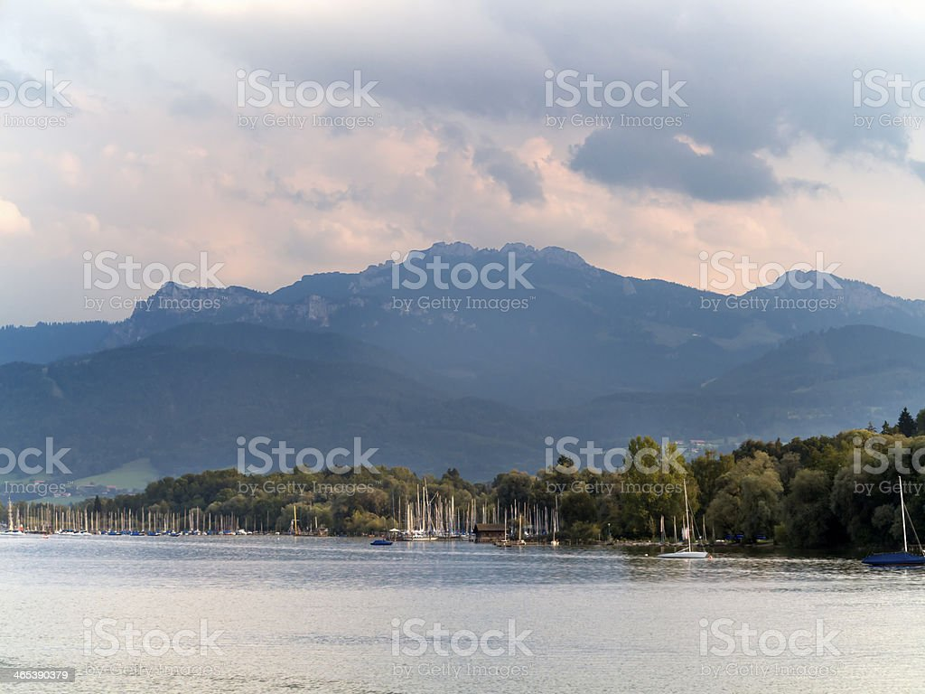 Sailing in Bavaria stock photo
