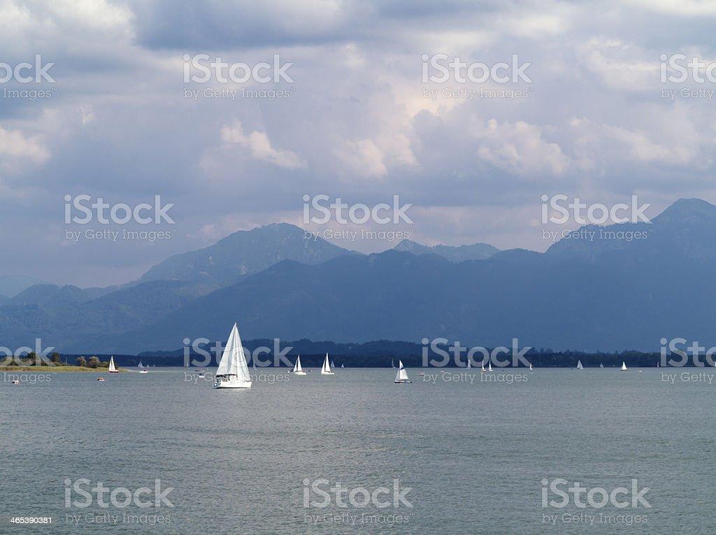 Sailing in Bavaria royalty-free stock photo