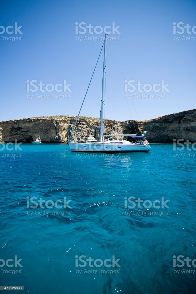Sailing in Blue Lagoon royalty-free stock photo