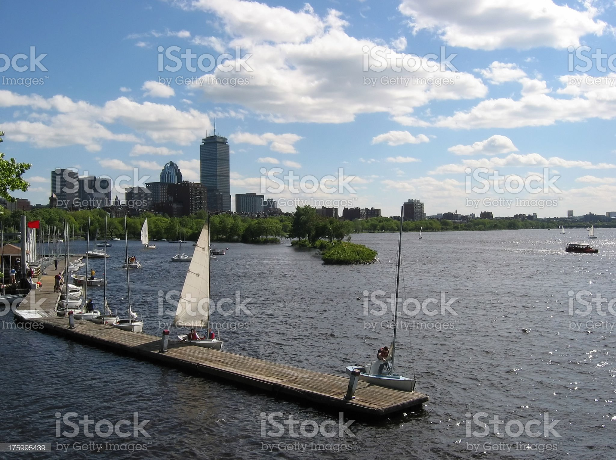 Sailing in Boston royalty-free stock photo