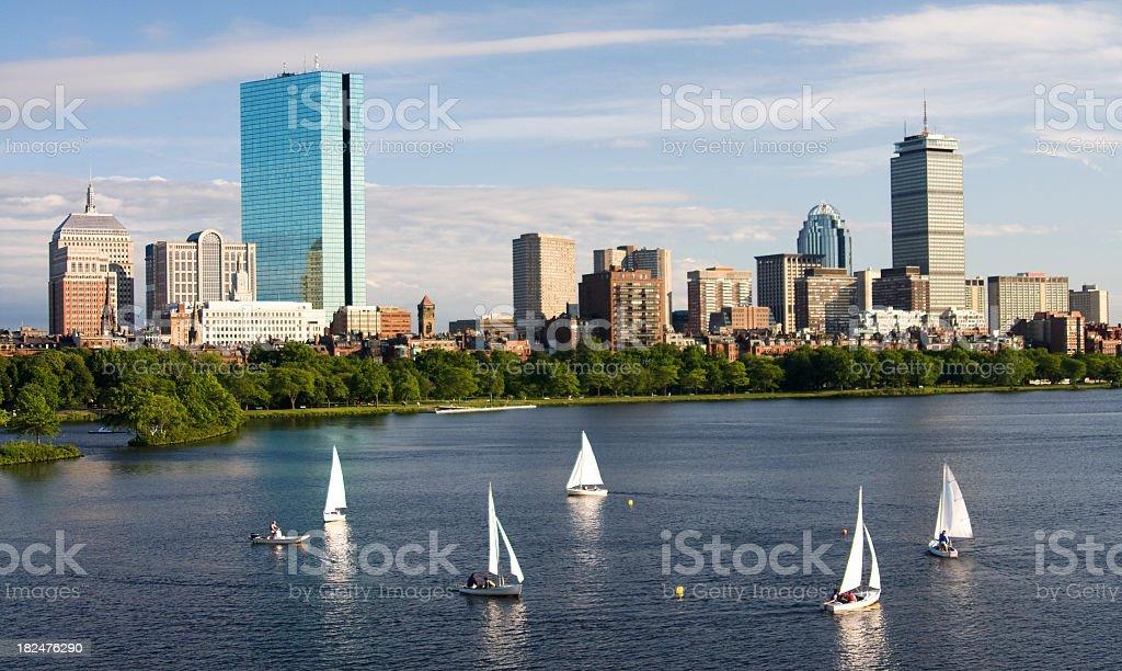 Sailing in Boston royalty-free stock photo