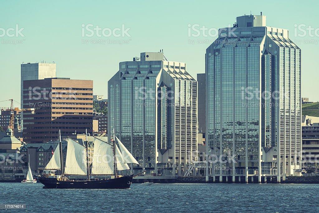 Sailing in Halifax stock photo