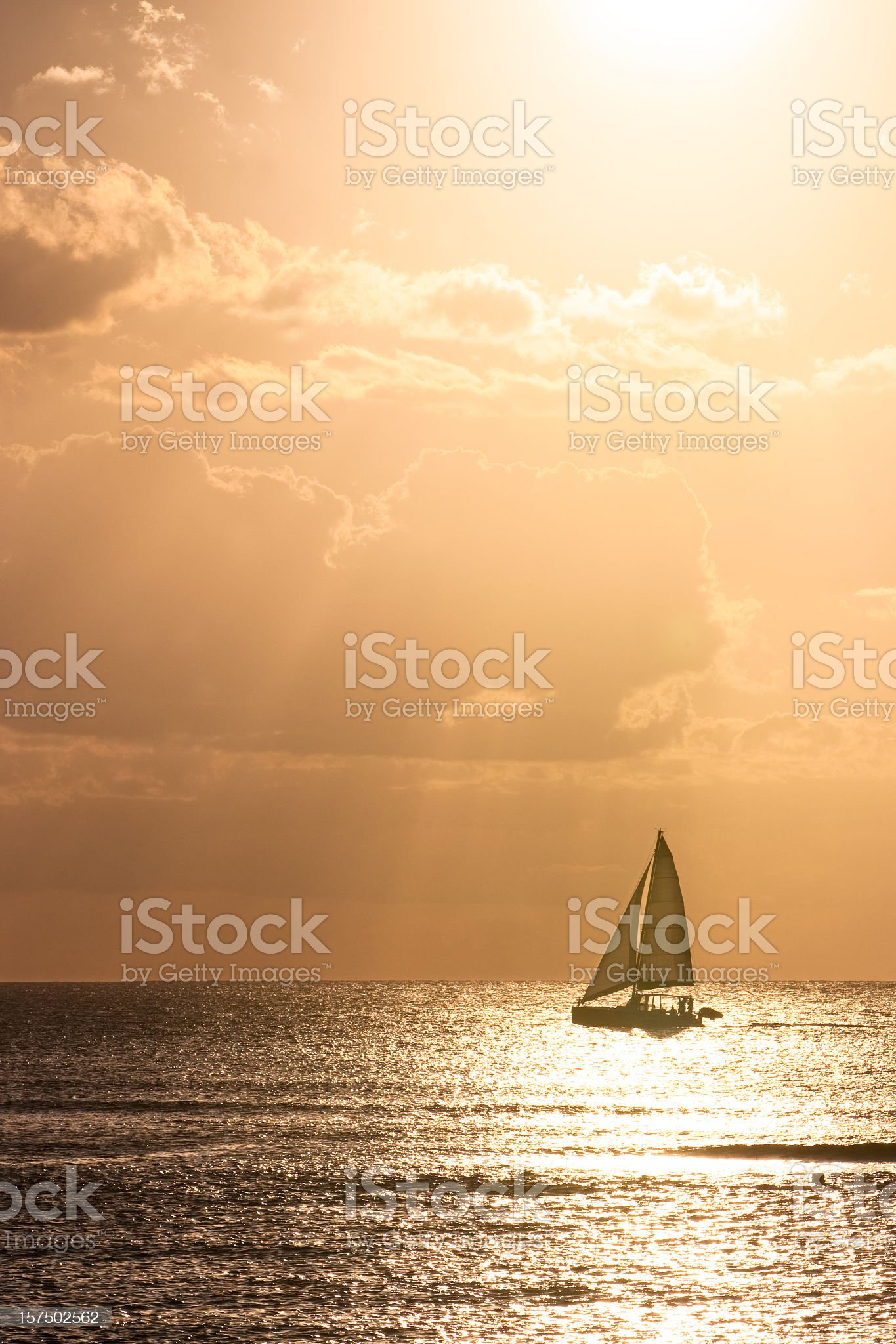 Sailing in late afternoon royalty-free stock photo