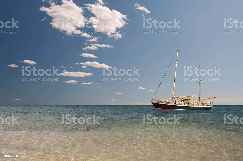 Sailing in Mediterranean sea stock photo