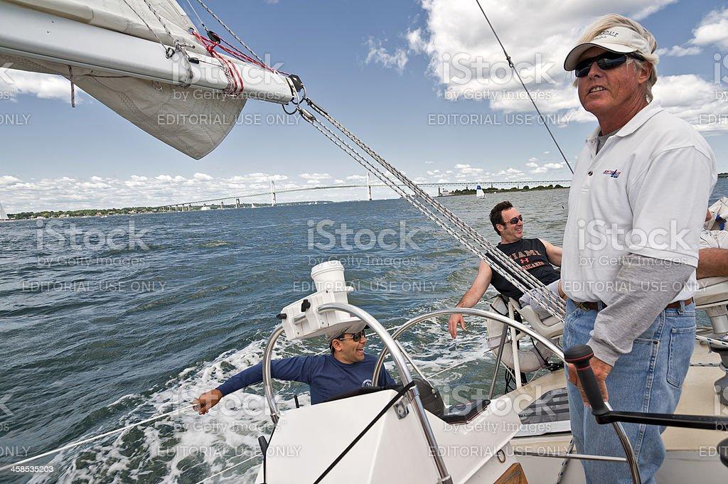 Sailing in Newport stock photo