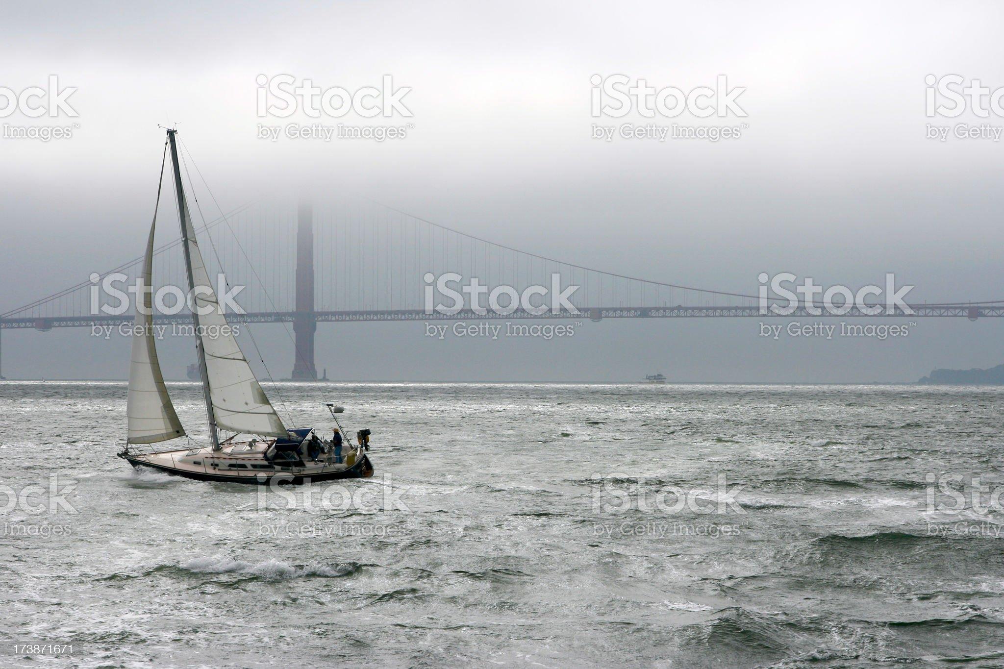 Sailing in San Fransisco Bay royalty-free stock photo