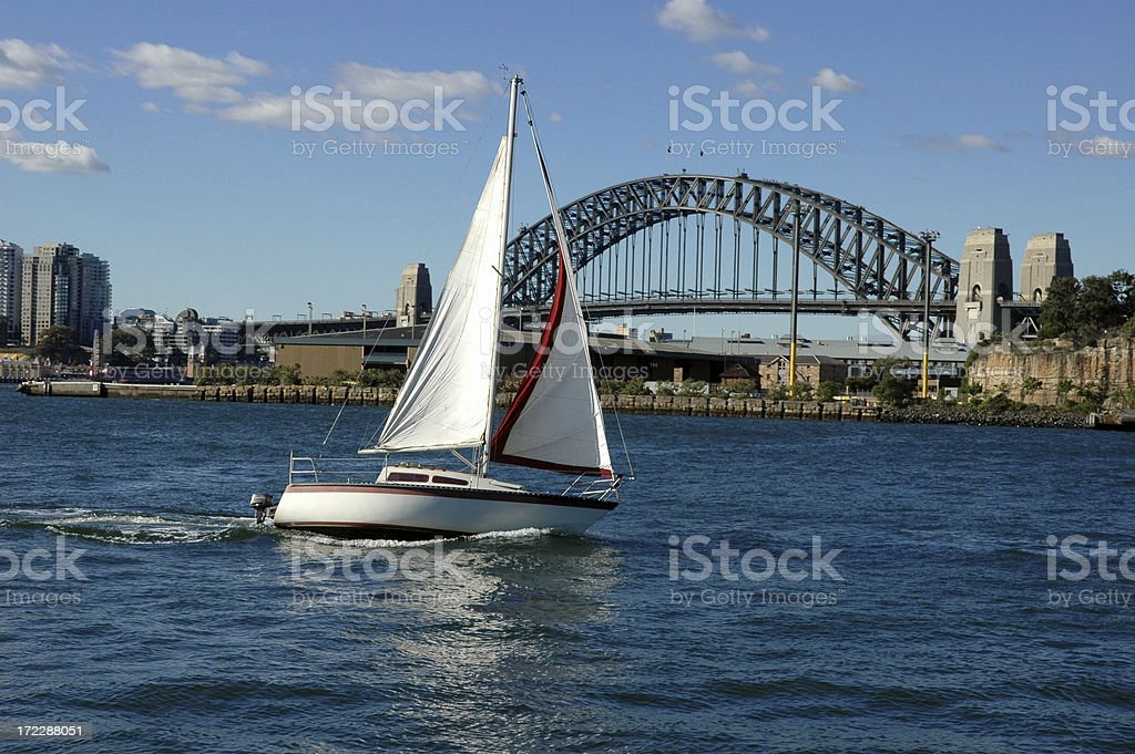 Sailing in Sydney royalty-free stock photo