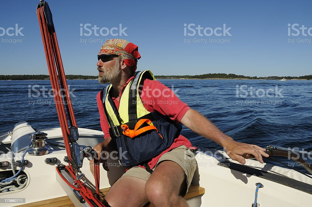 Sailing in the archipelago royalty-free stock photo
