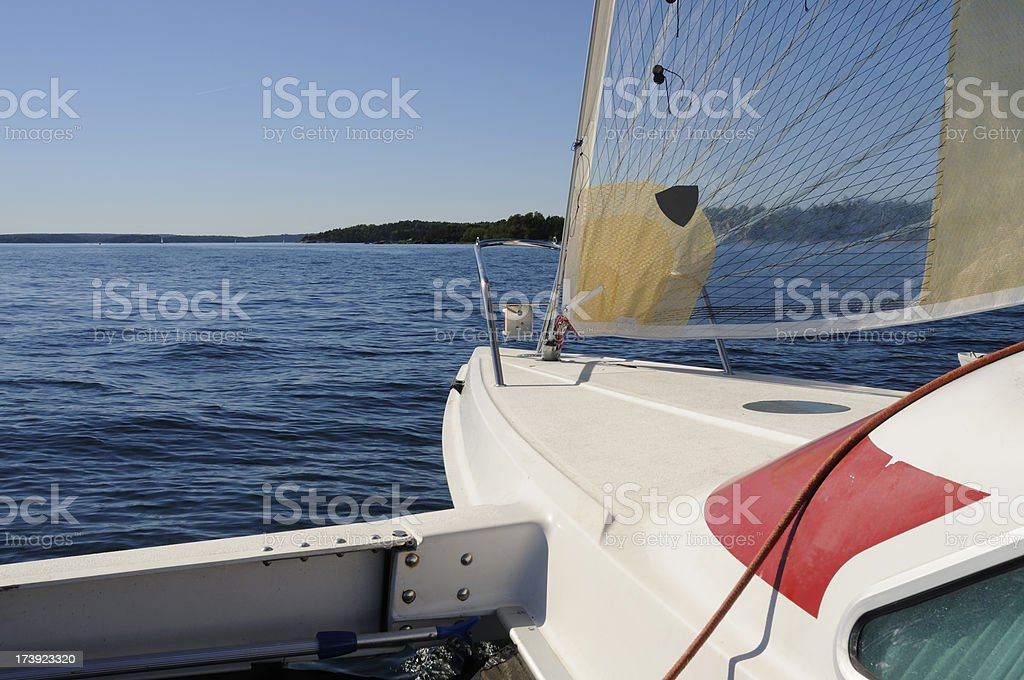 Sailing in the archipelago stock photo