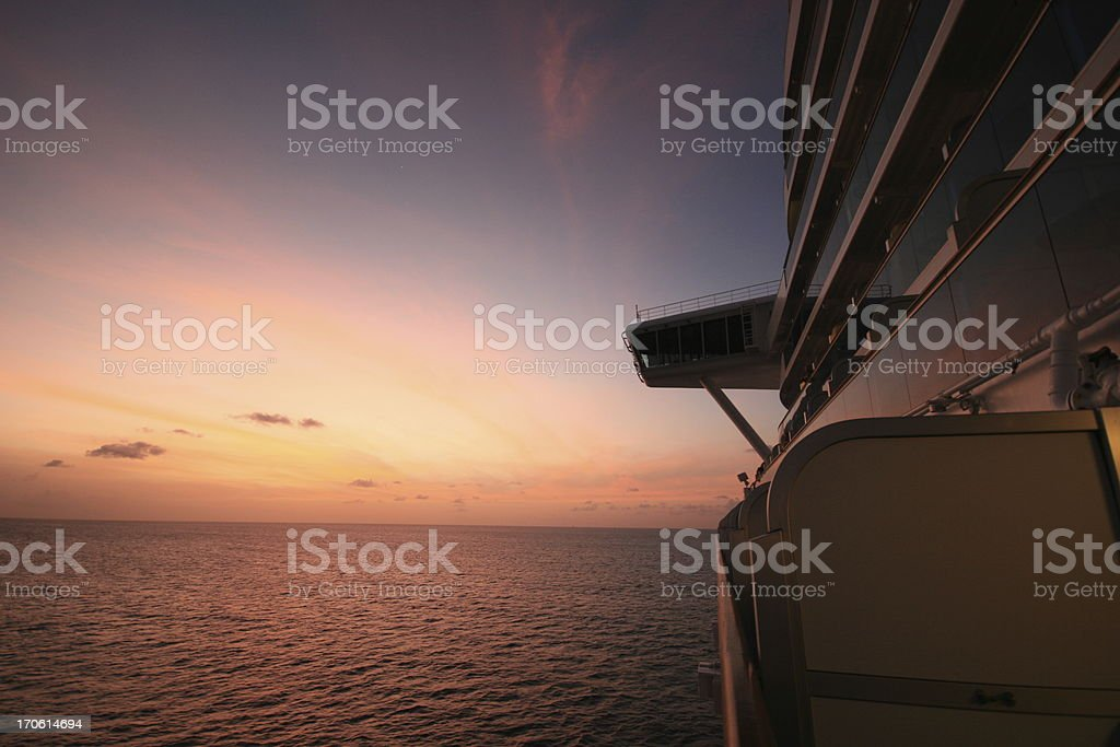 Sailing into the sunset royalty-free stock photo