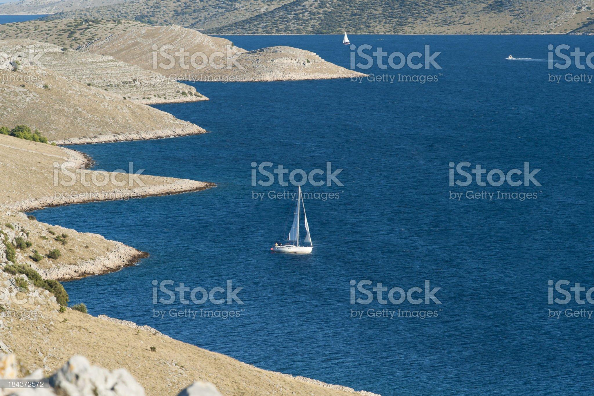 Sailing Kornati Archipelago royalty-free stock photo