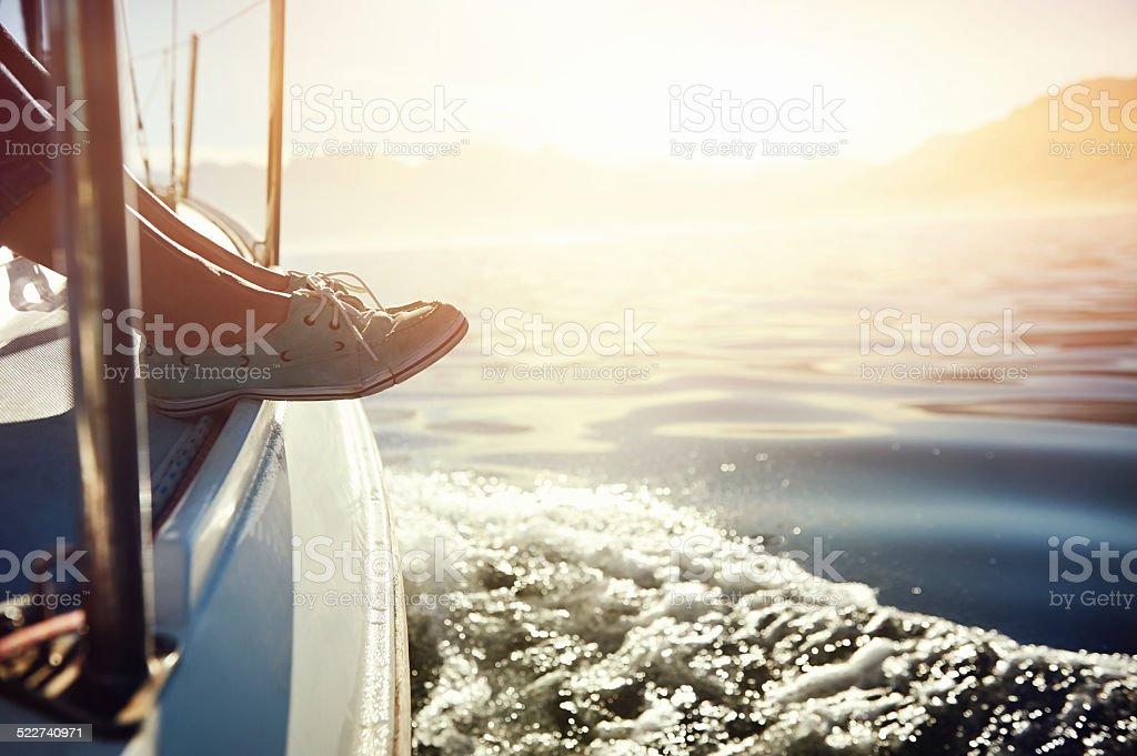 sailing lifestyle stock photo