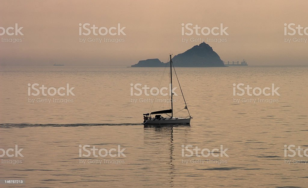 Sailing near Istanbul royalty-free stock photo