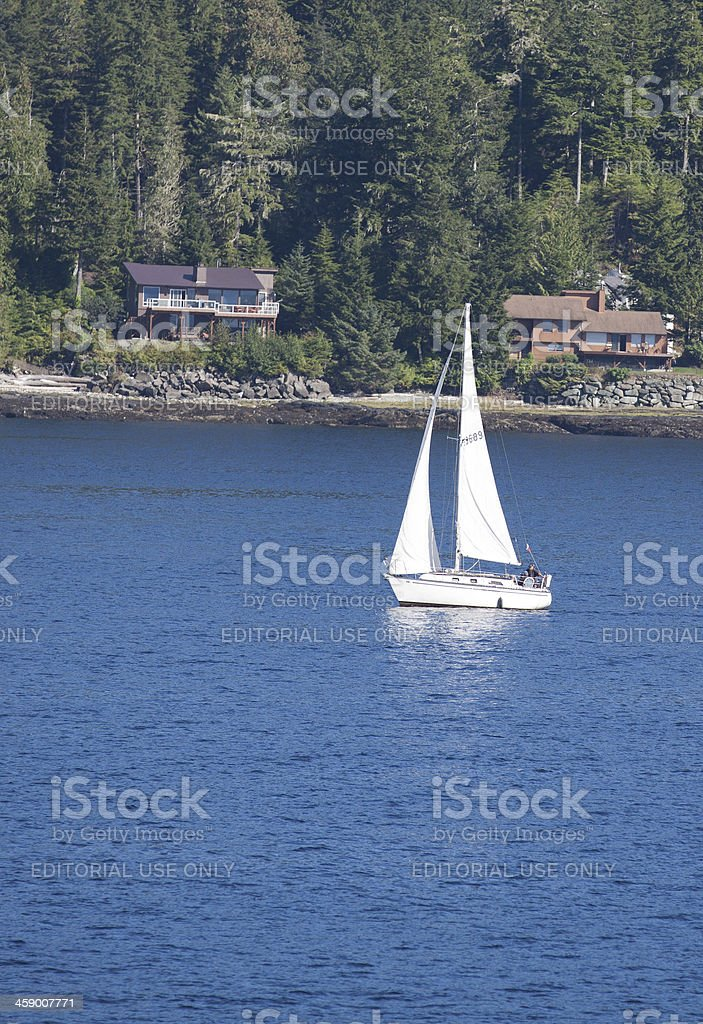 Sailing Near Ketchikan royalty-free stock photo