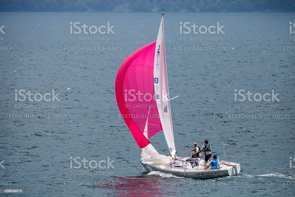 Sailing On Lake Garda royalty-free stock photo