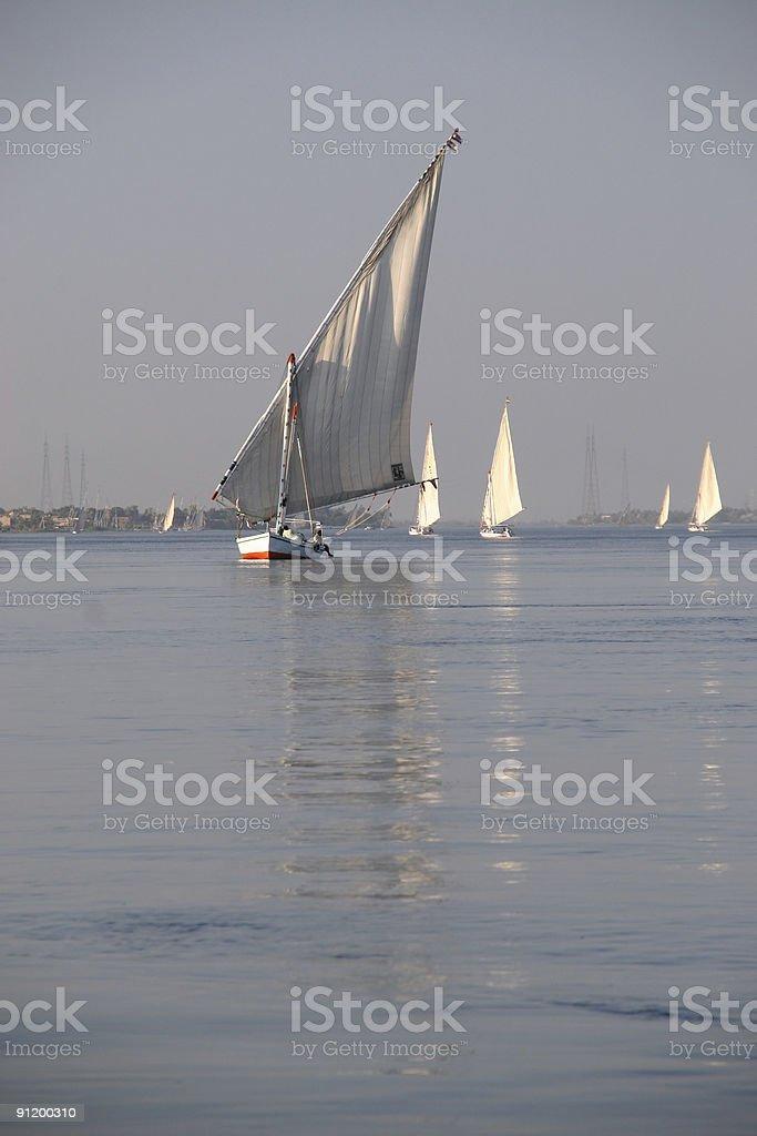 Sailing on Nile stock photo