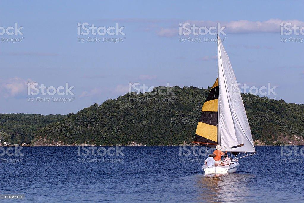 Sailing on Saratoga Lake stock photo