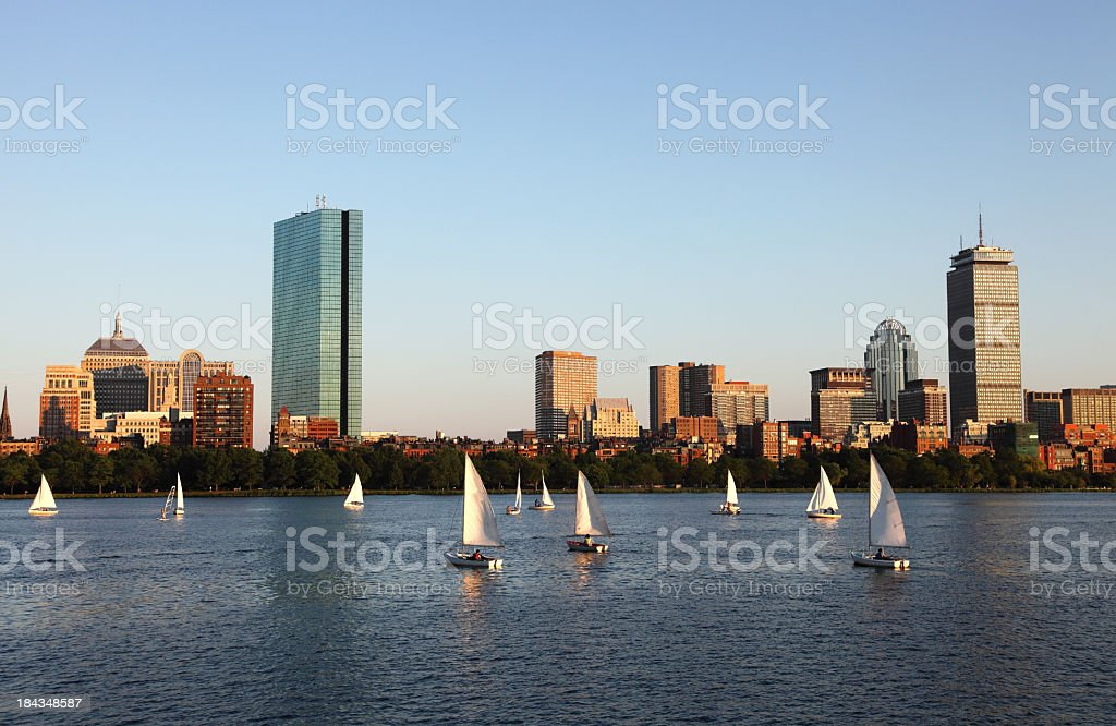 Sailing on the Charles royalty-free stock photo