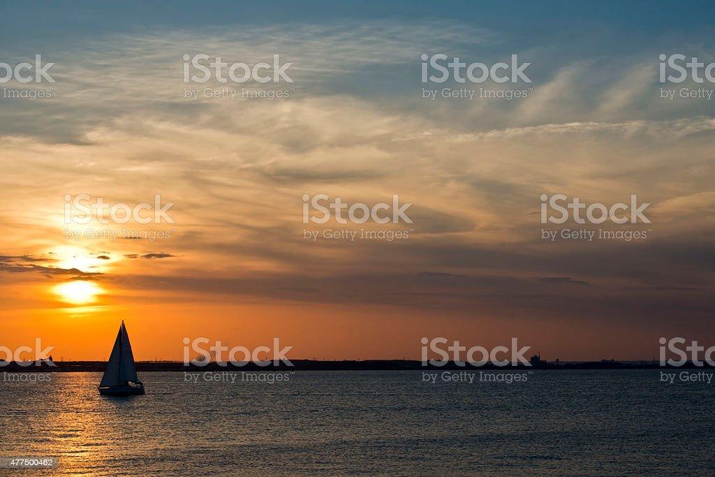 Sailing on the Chesapeake stock photo