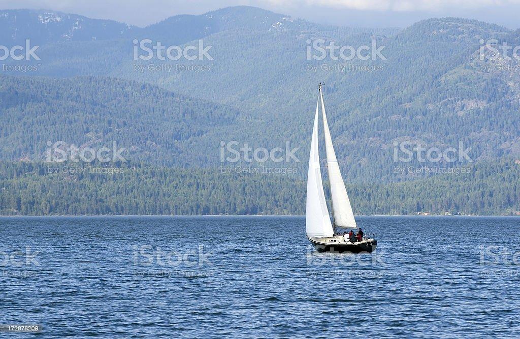 Sailing on the Lake stock photo