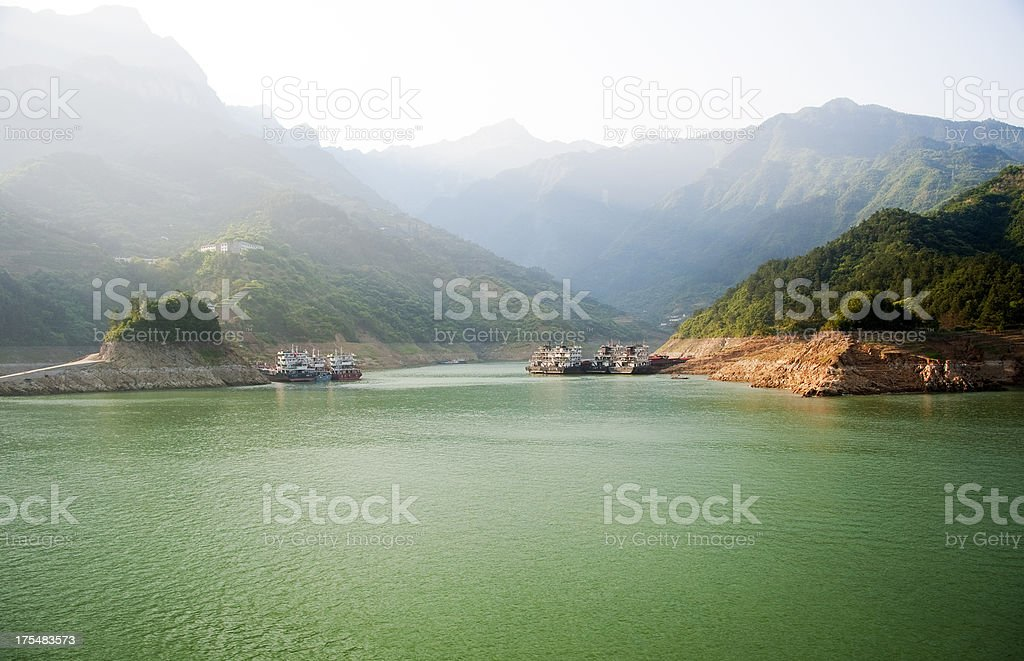 Sailing on the Yangtze River stock photo