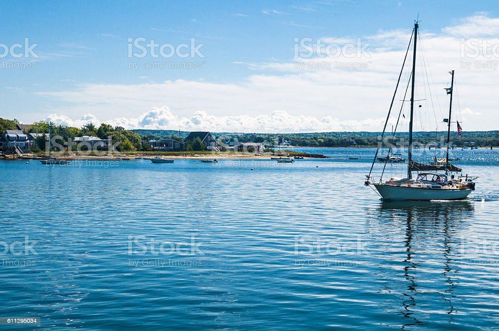 Sailing Onset Bay stock photo