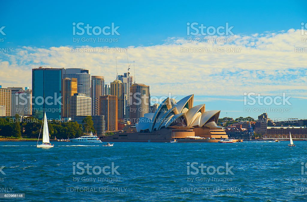 Sailing Past The Sydney Opera House stock photo