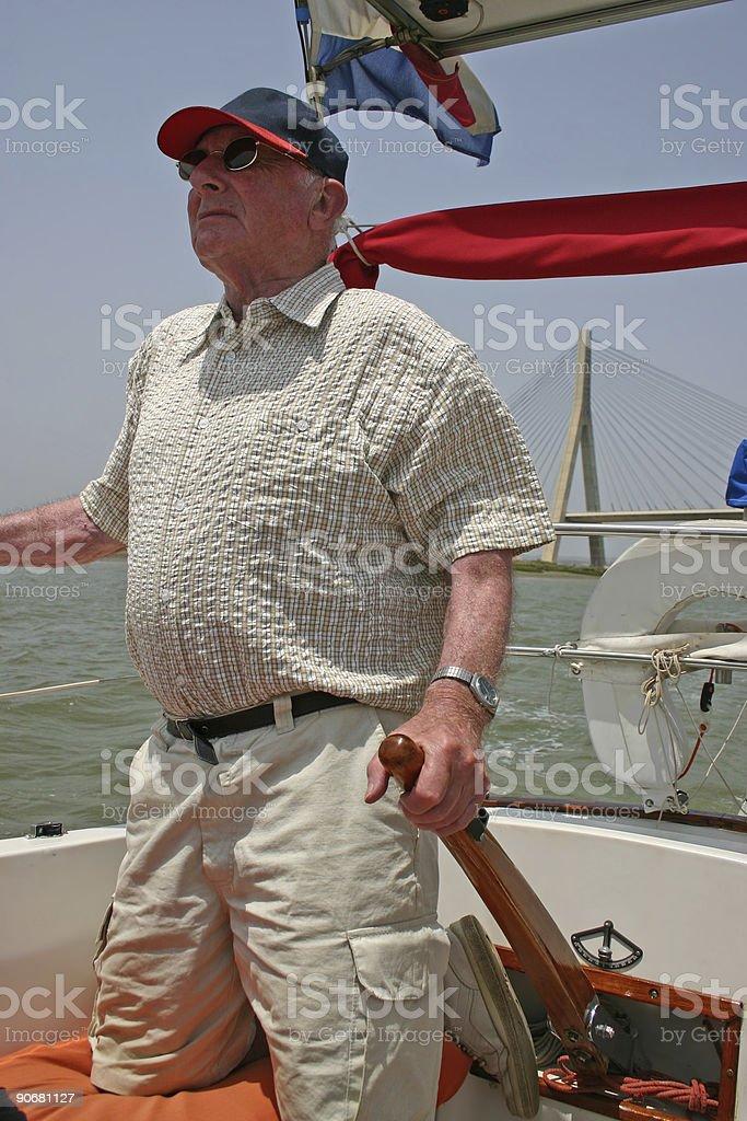 Sailing pensioner royalty-free stock photo