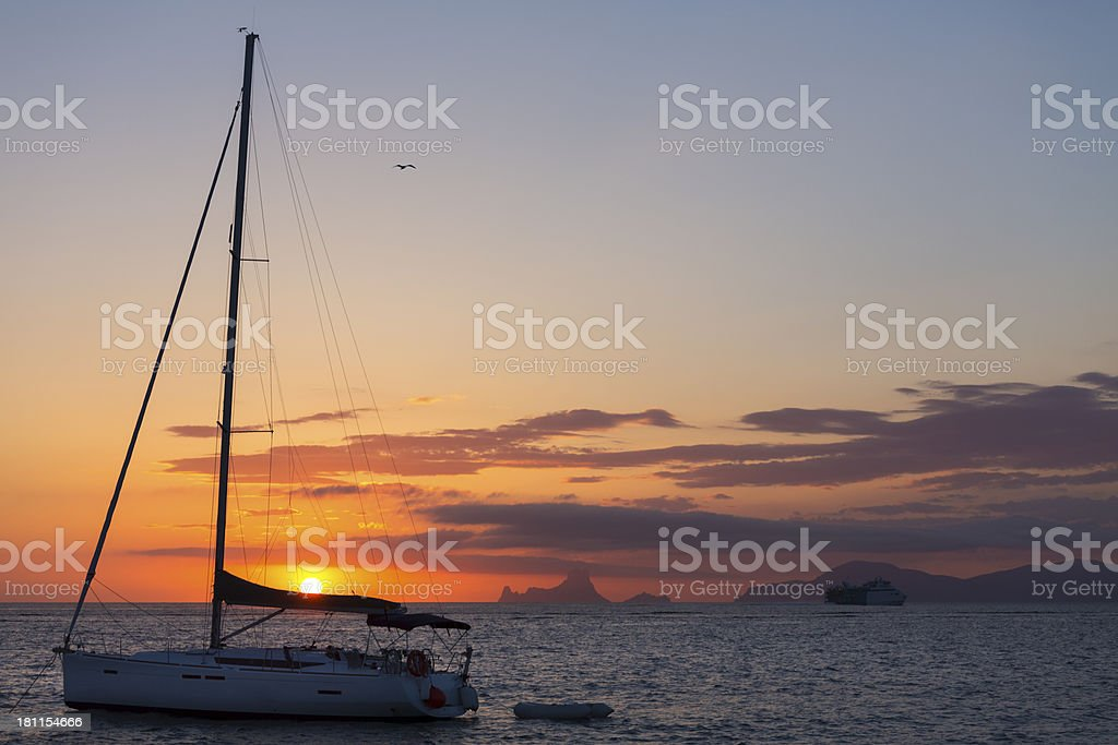 Sailing royalty-free stock photo