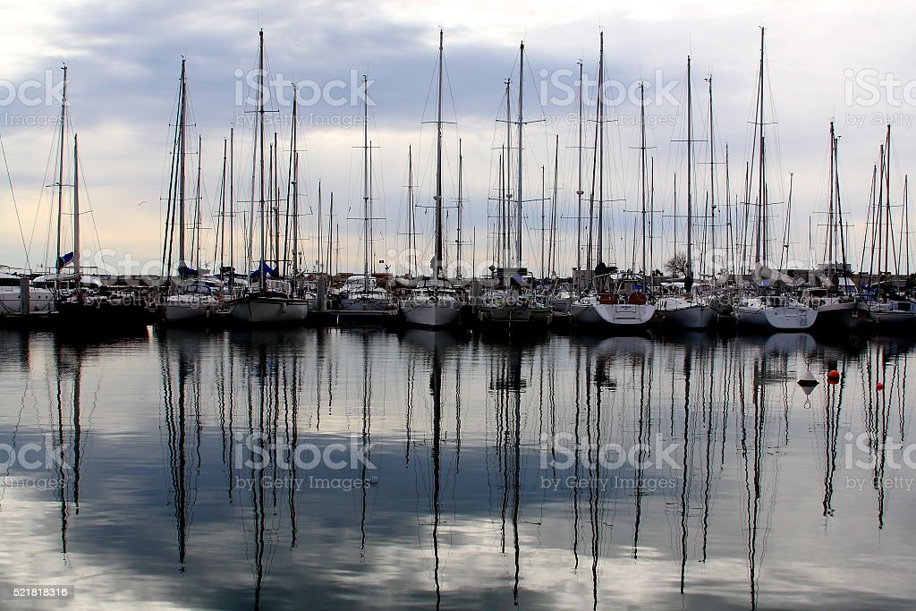 Sailing Reflection stock photo