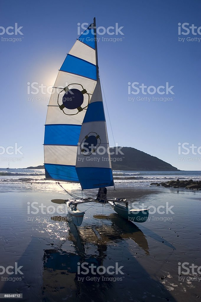 Sailing Reflections stock photo