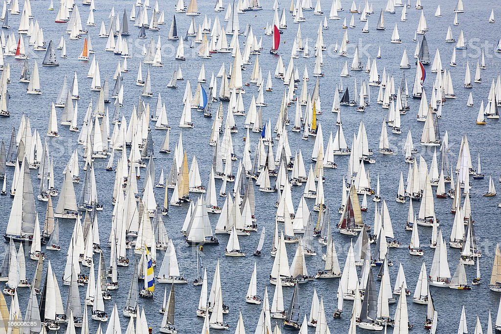 Sailing regatta Barcolana stock photo