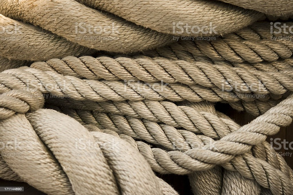 Sailing Rope Background, Full Frame stock photo