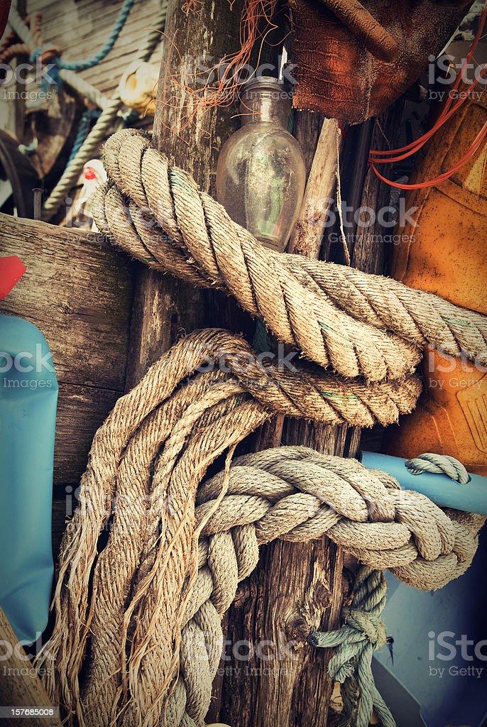 Sailing Rope Background stock photo