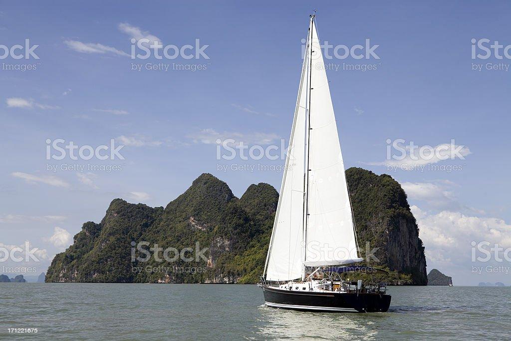 sailing sailboat phuket province phang nga bay royalty-free stock photo