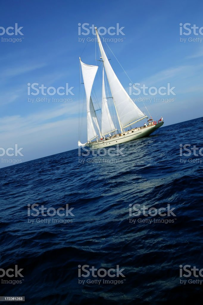 sailing sailboat royalty-free stock photo